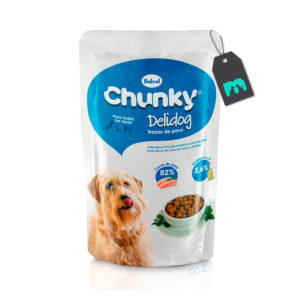 Chunky Six Pack Pouch Trozos De Pavo