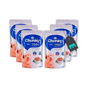 Chunky Six Pack Pouch Trozos de Pavo X 100 gr.
