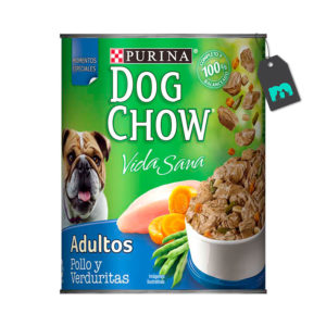 Dog Chow Six Pack Lata Pollo y Verduritas 374 gr