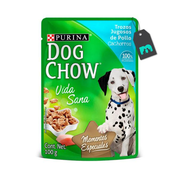 Dog Chow Six Pack Pouch Trozos De Pollo Para Cachorros