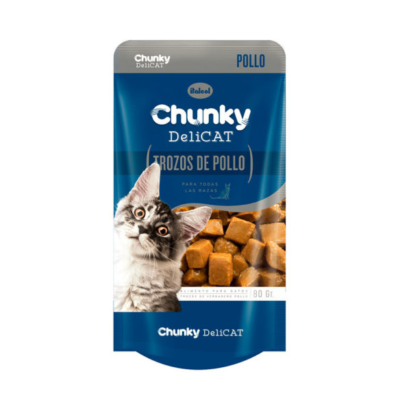Chunky Delicat Pouch Trozos Pollo 80 gr