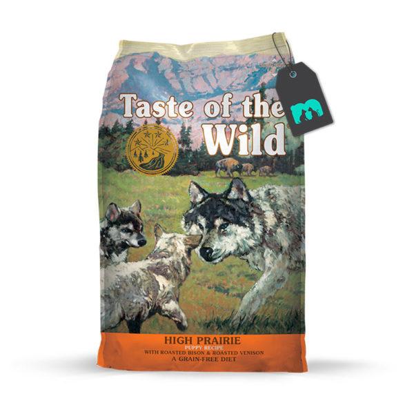 taste of the wild high prairie puppy recipe con bisonte asado y venado asado