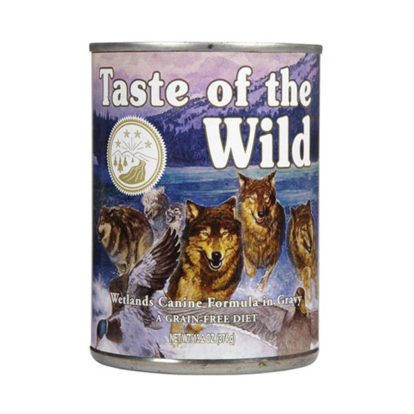 Taste of the wild Lata Pato y Codorniz Wetlands 374 g