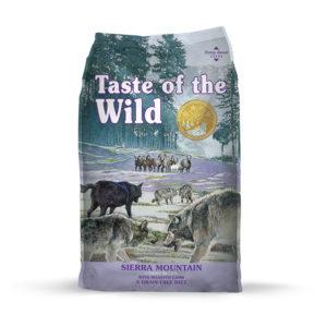 Taste Of The Wild Sierra Mountain Canine Recipe con Cordero Asado