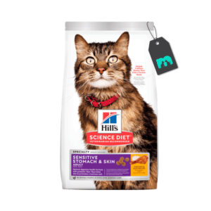 hills gato adulto sensitive stomach and skin