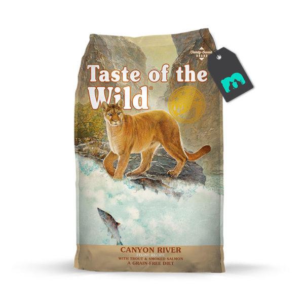 taste of the wild canyon river trucha y salmon ahumado