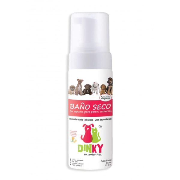 Dinky Baño Seco en Espuma Perros Cachorros x150ml