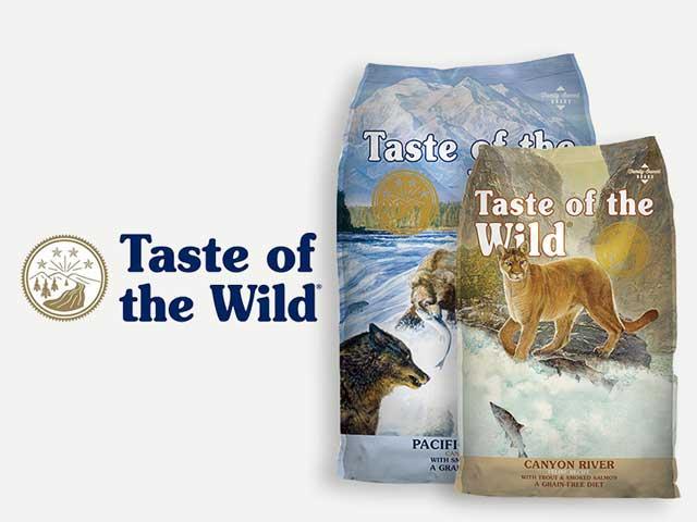 Comida para perro y gato taste of the wild